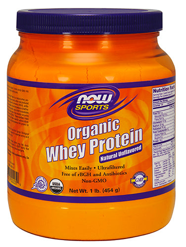 Shop NOW Foods Whey Protein Certified Organic, Natural Unflavored, 1 Pound online  sports-nutrition-whey-protein-powders
