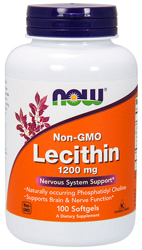Shop NOW Foods Lecithin 1200 mg, 100 Softgel online  lecithin-nutritional-supplements