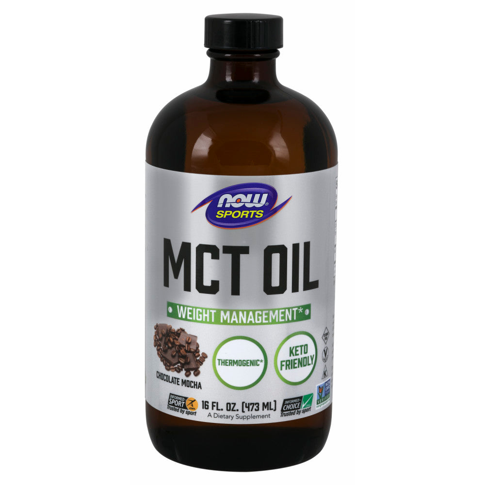 Shop NOW Foods MCT Oil, Chocolate Mocha, 16 Fluid Ounce (RH) online  mct-oil-nutritional-supplements