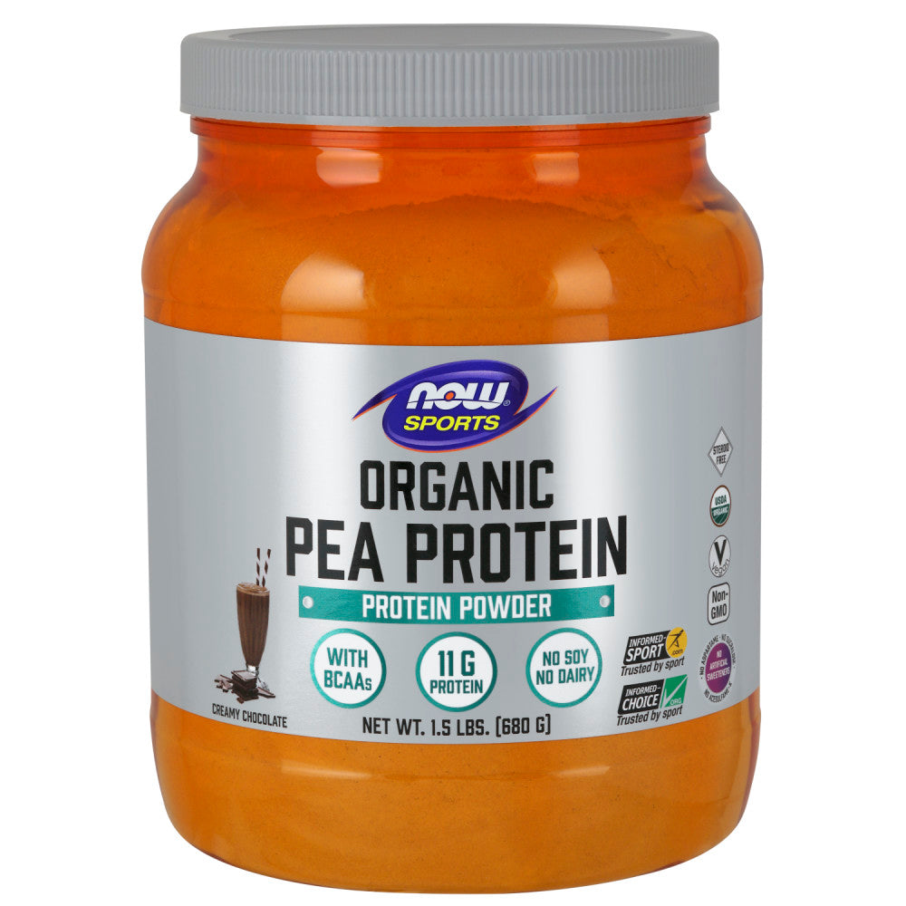 Shop NOW Foods Organic Pea Protein, Natural Chocolate, 1.5 Pound (RH) online  sports-nutrition-pea-protein-powders