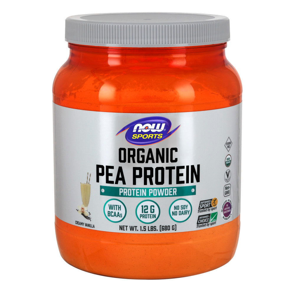 Shop NOW Foods Organic Pea Protein, Natural Vanilla, 1.5 Pound (RH) online  sports-nutrition-pea-protein-powders