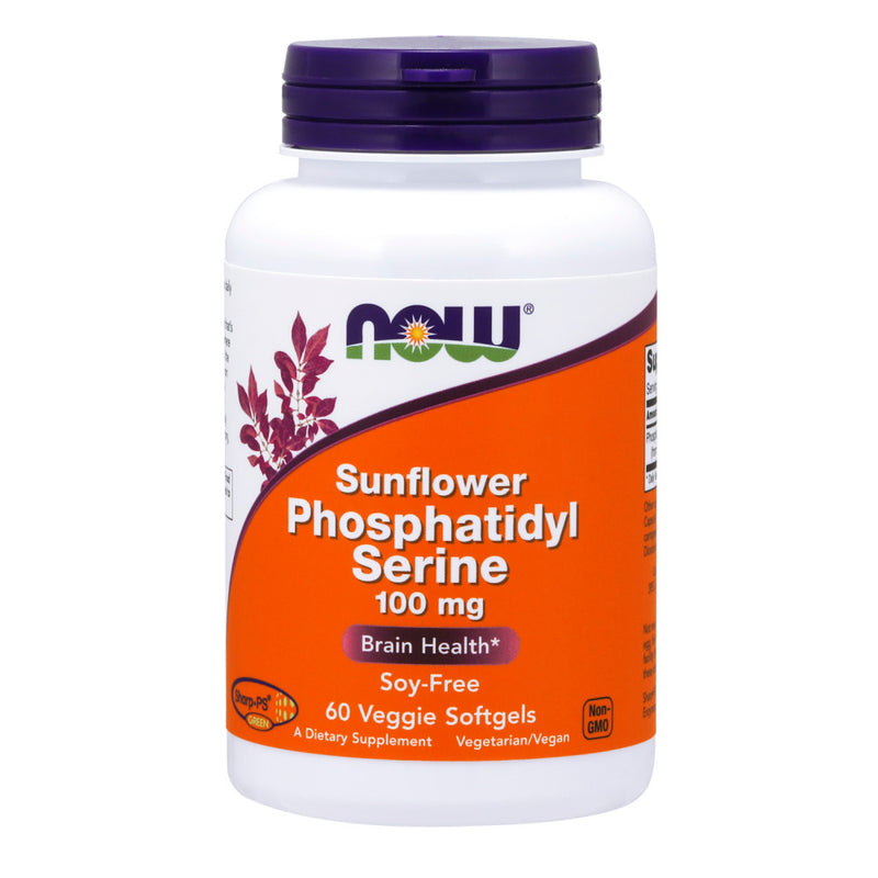 Shop NOW Foods Sunflower Phosphatidyl Serine 100 mg, 60 Vegetable Softgel (RH) online  lecithin-nutritional-supplements