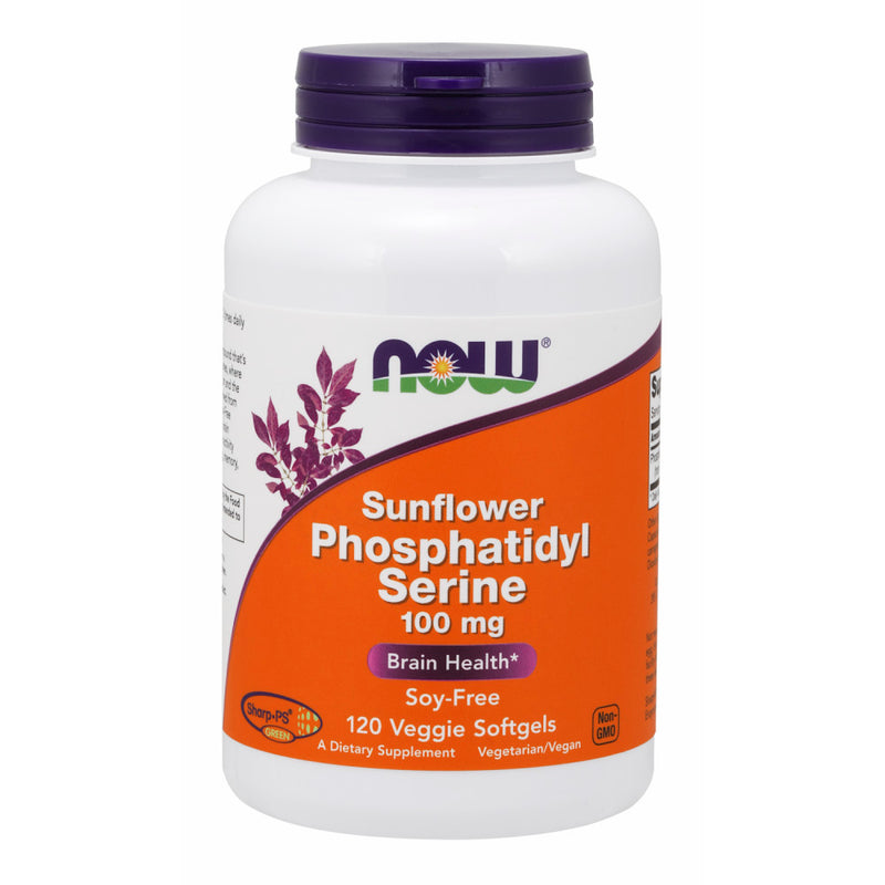 Shop NOW Foods Sunflower Phosphatidyl Serine 100 mg, 120 Vegetable Softgel (RH) online  lecithin-nutritional-supplements