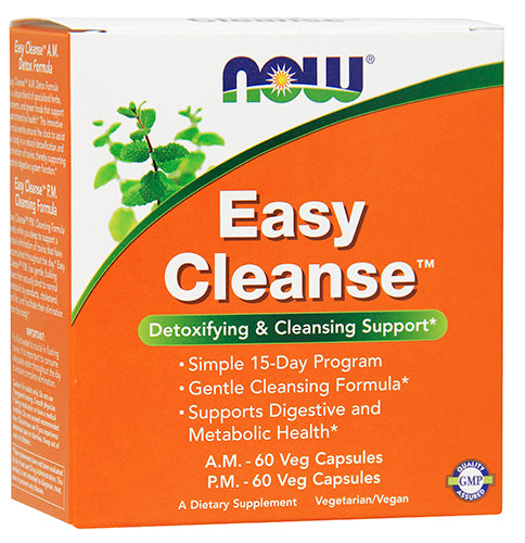 Shop NOW Foods Easy Cleanse AM/PM Kit, 120 Vegetable Capsule online  fat-burner-weight-loss-supplements