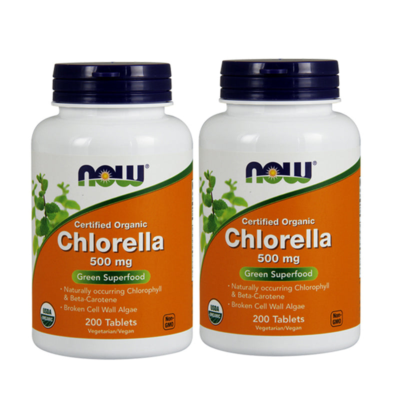 Shop NOW Foods Chlorella 500 mg, 200 Tablet (Pack of 2) (RH) online  chlorophyll-herbal-supplements