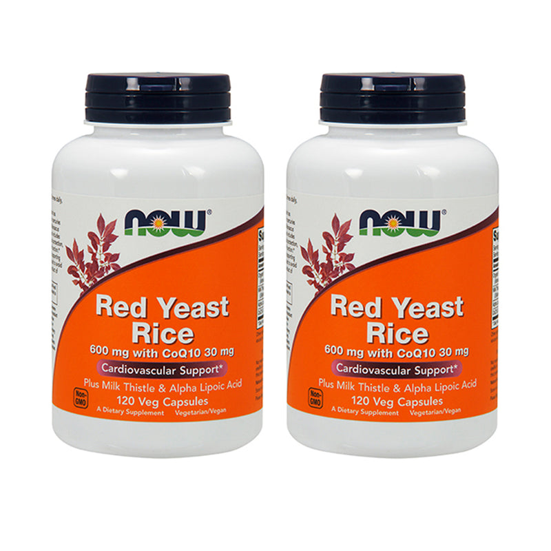 Shop NOW Foods Red Yeast Rice & CoQ10, 120 Vegetable Capsule (2 Pack) (RH) online  red-yeast-rice-herbal-supplements