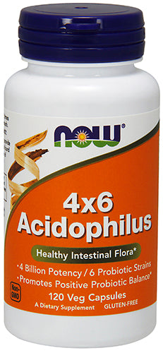 Shop NOW Foods Acidophilus 4X6, 120 Vegtable Capsule online  probiotic-nutritional-supplements