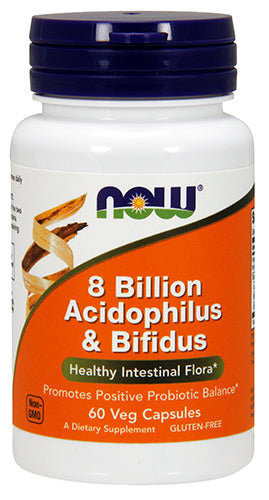 Shop NOW Foods 8 Billion Acidophilus & Bifidus, 60 Vegetable Capsule online  acidophilus-nutritional-supplements