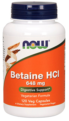 Shop NOW Foods Betaine HCL, 120 Capsule online  enzyme-nutritional-supplements