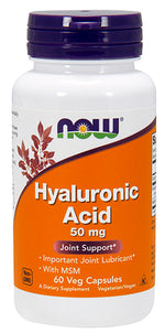 Shop NOW Foods Hyaluronic Acid 50mg, 60 Vegetable Capsule online  hyaluronic-acid-nutritional-supplements