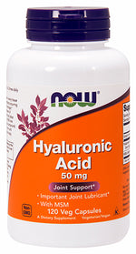 Shop NOW Foods Hyaluronic Acid with MSM, 120 Vegetable Capsule online  hyaluronic-acid-nutritional-supplements