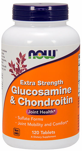 Shop NOW Foods Glucosamine & Chondroitin Extra, 120 Tablet online  chondroitin-and-glucosamine-combination-nutritional-supplements