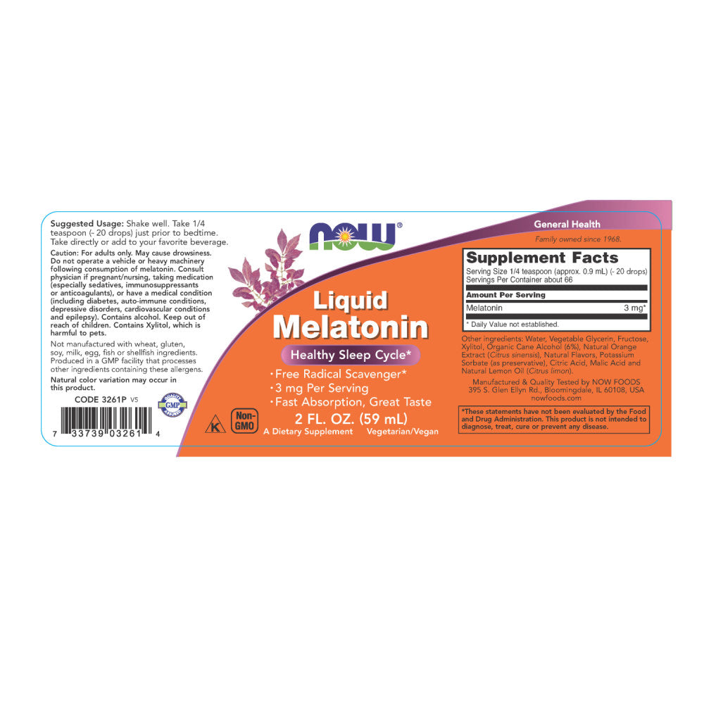 Liquid Melatonin 3 mg