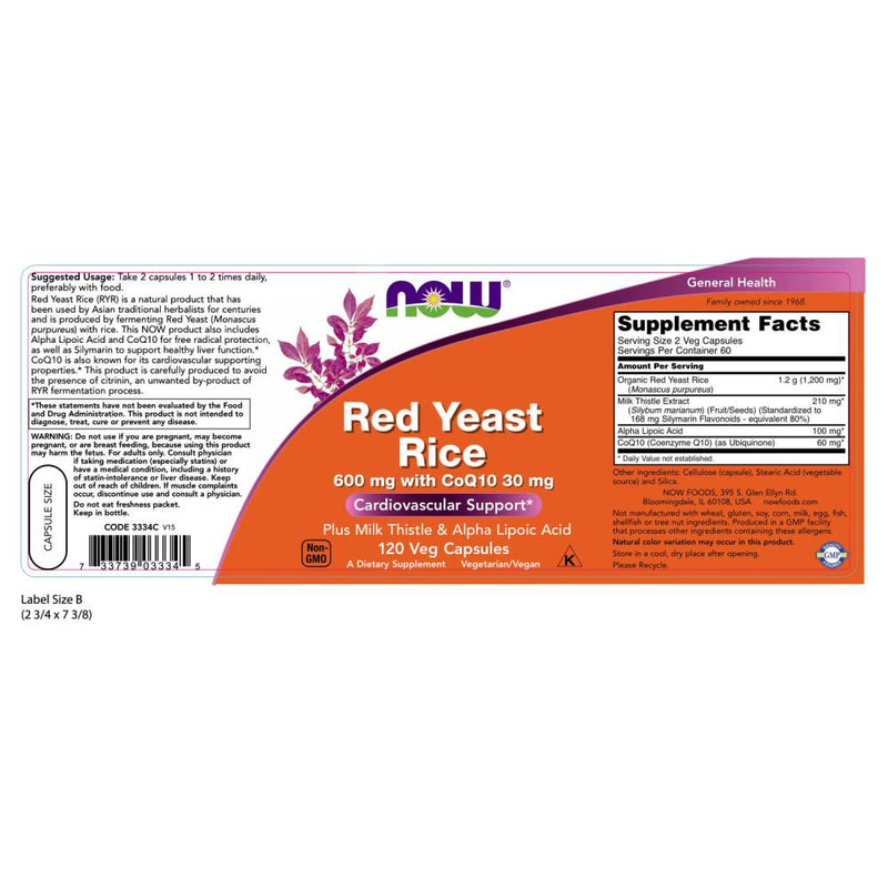 Red Yeast Rice 600 mg with CoQ10 30 mg