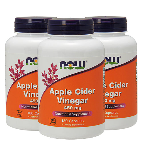 Shop NOW Foods Apple Cider Vinegar 450 Milligram, 180 Capsule (3 Pack) (RH) online  detox-and-cleanse-weight-loss-products