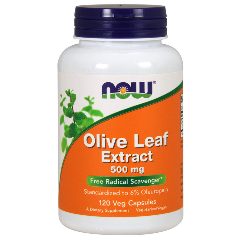 Shop NOW Foods Olive Leaf Extract 500 Milligram, 120 Vegetable Capsule (RH) online  nutritional-supplements