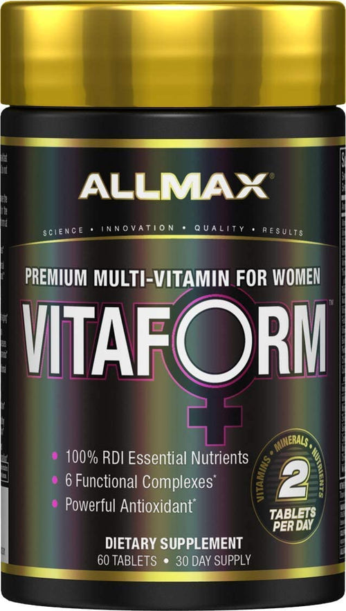 Shop ALLMAX Nutrition Vitaform Premium MultiVitamin for Women, 60 Tablet online  sports-nutrition-multivitamins