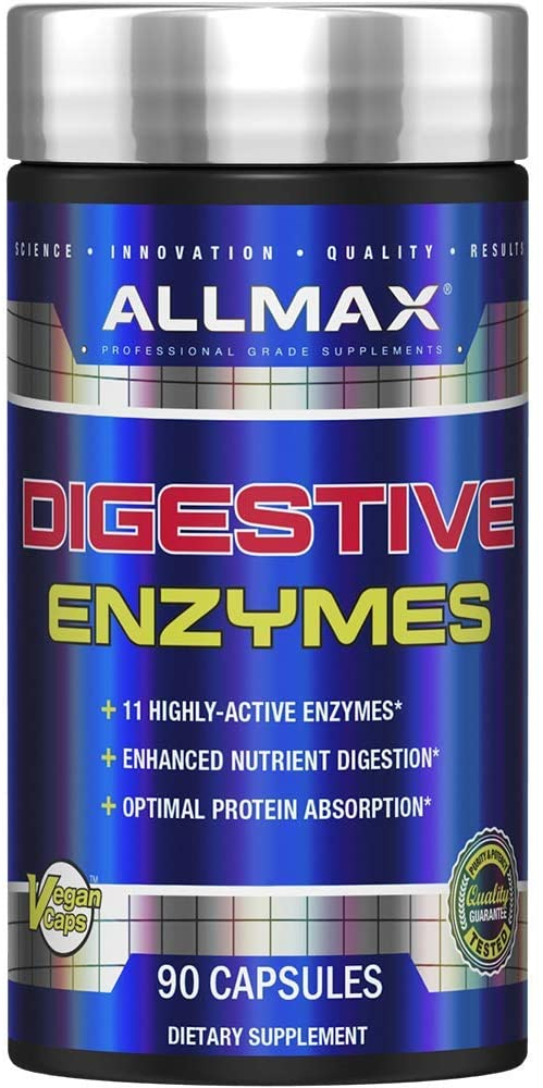 Shop ALLMAX Nutrition Digestive Enzymes, 90 Capsule online  digestion-and-nausea-medications-and-treatments