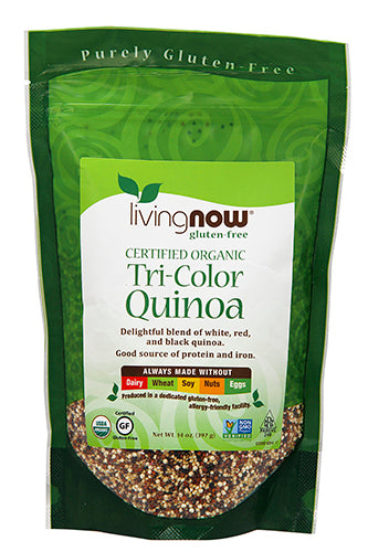 Shop NOW Foods Tri-Color Organic Quinoa, 14 Ounce online