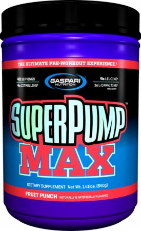 Shop Gaspari Nutrition SuperPump MAX, Fruit Punch, 40 Serving online  sports-nutrition-pre-workout-powders