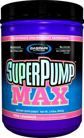 Shop Gaspari Nutrition SuperPump MAX, Pink Lemonade, 40 Serving online  sports-nutrition-pre-workout-powders