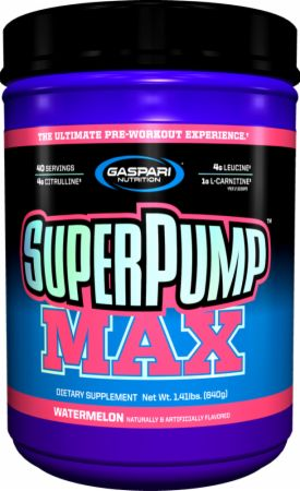Shop Gaspari Nutrition SuperPump MAX, Watermelon, 40 Serving online  sports-nutrition-pre-workout-powders