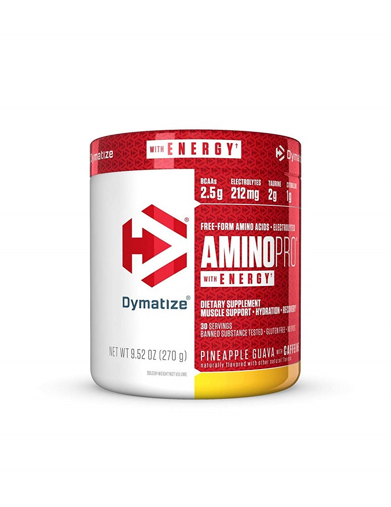 Shop Dymatize  AminoPro + Energy, Pineapple Guava, 30 Serving online  amino-acids