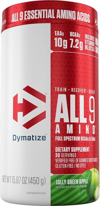Shop Dymatize All9 Amino, Jolly Green Apple, 30 Serving online  branched-chain-amino-acids-nutritional-supplements