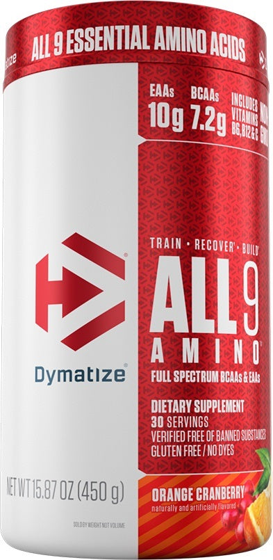 Shop Dymatize All9 Amino, Orange Cranberry, 30 Serving online  branched-chain-amino-acids-nutritional-supplements