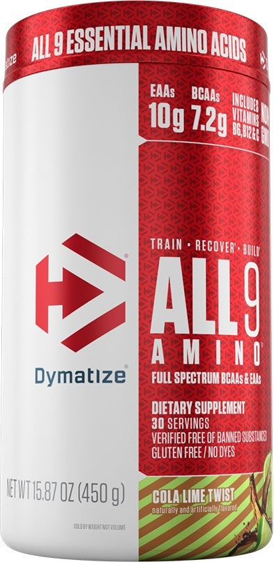 Shop Dymatize All9 Amino, Cola Lime Twist, 30 Serving online  branched-chain-amino-acids-nutritional-supplements