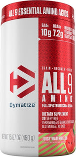 Shop Dymatize All9 Amino, Juicy Watermelon, 30 Serving online  branched-chain-amino-acids-nutritional-supplements