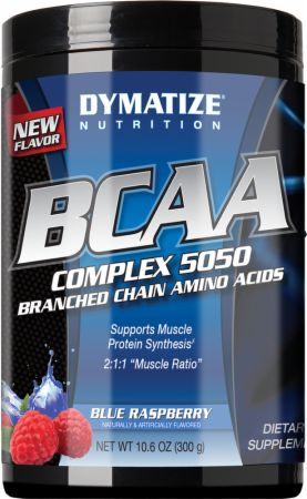Shop Dymatize BCAA Complex 5050, Blue Rasberry, 300 Gram online  branched-chain-amino-acids-nutritional-supplements