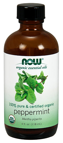 Shop NOW Foods Essential Oil, Organic Peppermint, 4 Fluid Ounce online  scented-oils