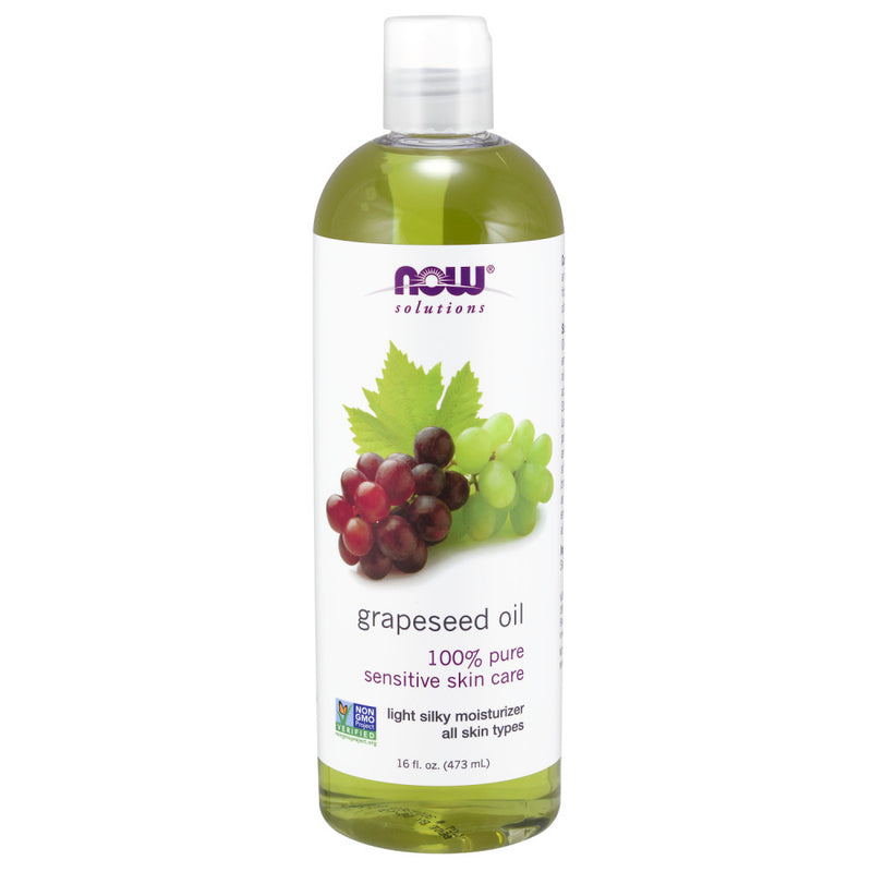 Shop NOW Foods Solutions, Grape Seed Oil (Skin Care Oil), 16 Fluid Ounce (Pack of 1) (MB) online  body-oils