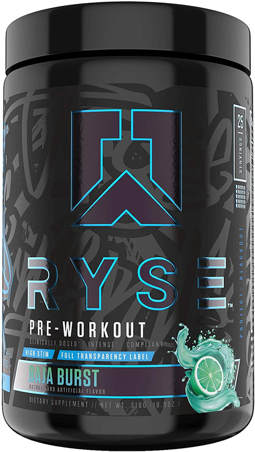 Shop RYSE Up Supplements Project: Blackout | Pre-workout, 25 Serving, Baja Burst online  sports-nutrition-pre-workout-powders