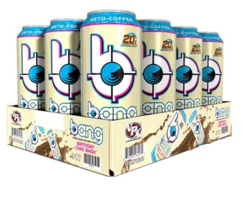 Shop Bang Energy Drink, Keto Coffee Birthday Cake Bash, 15 Fluid Ounce (12 Pack) online  energy-drinks