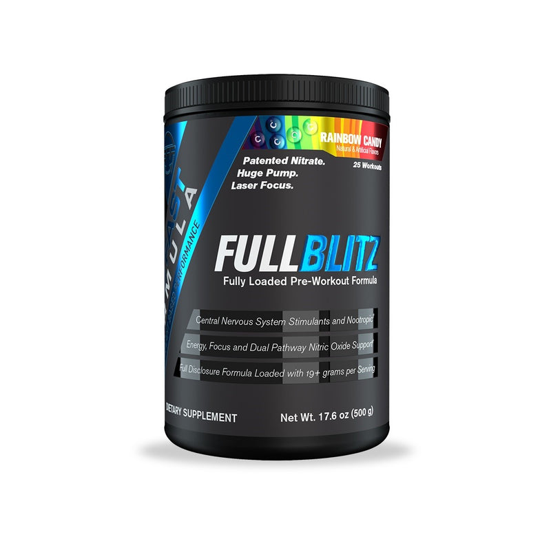 Shop Build Fast Formula FULLBLITZ, Rainbow Candy, 24 Serving online  sports-nutrition-pre-workout-supplements