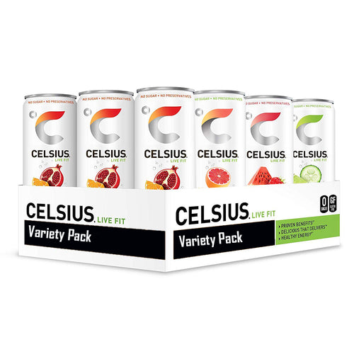 Shop CELSIUS Natural Live Fit, Variety Pack 4, Pack of 12 online  bottled-and-canned-energy-drinks