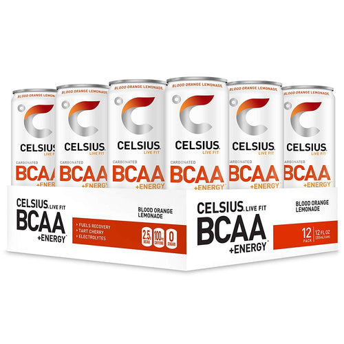 Shop CELSIUS BCAA + ENERGY, 12-Pack, Blood Orange Lemonade online  energy-drinks
