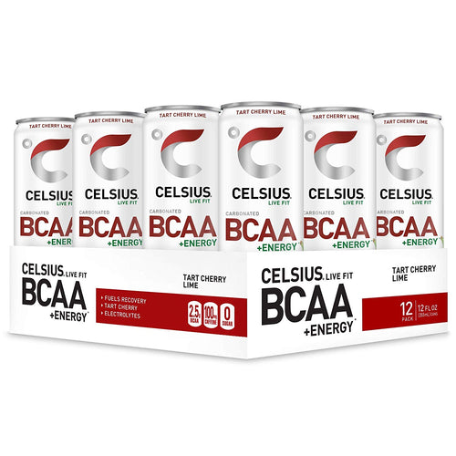 Shop CELSIUS BCAA + ENERGY, 12-Pack, Tart Cherry Lime online