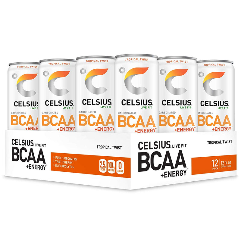 Shop CELSIUS BCAA + ENERGY, 12-Pack, Tropical Twist online