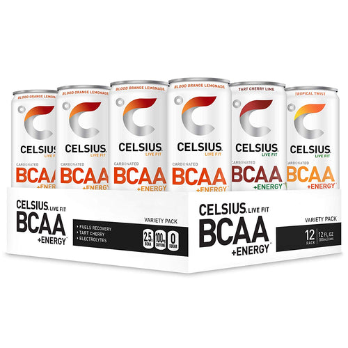 Shop CELSIUS BCAA + ENERGY, 12-Pack, Variety Pack online
