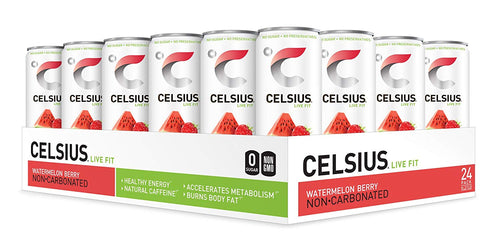 Shop CELSIUS Sweetened with Stevia Live Fit, 24-Pack, Watermelon Berry (non-carbonated) online