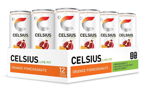 Shop CELSIUS Sweetened with Stevia, 12-Pack, Sparkling Orange Pomegranate (carbonated) online  energy-drinks