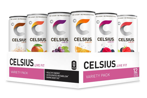 Shop CELSIUS Live Fit Fitness & Energy Drink, 12-Pack, Variety Pack (PREMADE) online  energy-drinks
