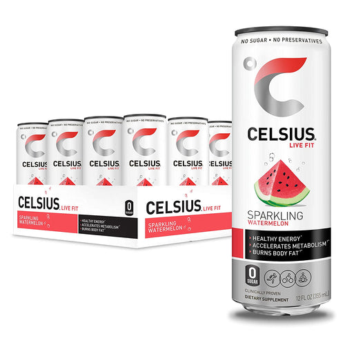 Shop CELSIUS Live Fit Fitness & Energy Drink, 12-Pack, Sparkling Watermelon online  energy-drinks