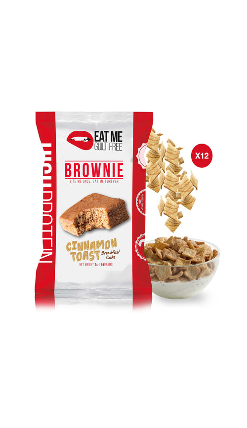 Shop Eat Me Guilt Free, Cinnamon Toast Breakfast Cake Brownie, 12 Count online  sports-nutrition-cookies-and-brownies