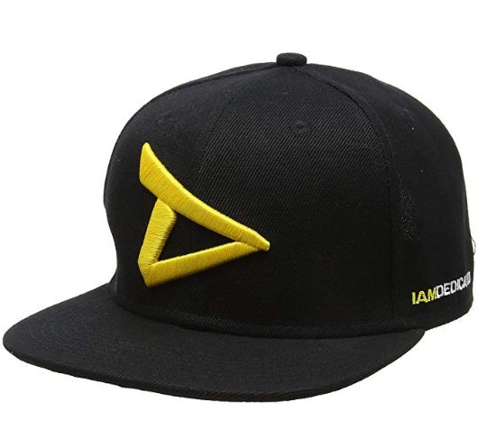 "Shop DEDICATED Apparel & Accessories, Dedicated ""D"" Logo Snapback Hat Black & Yellow, One Size online"