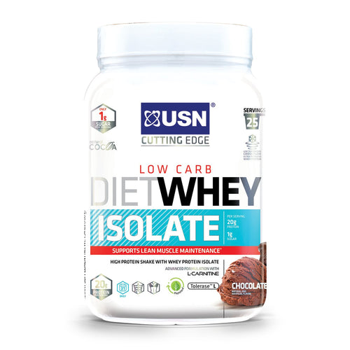 Shop USN Cutting Edge Series Diet Whey Isolate, Chocolate, 25 Serving online  sports-nutrition-whey-protein-isolate-powders