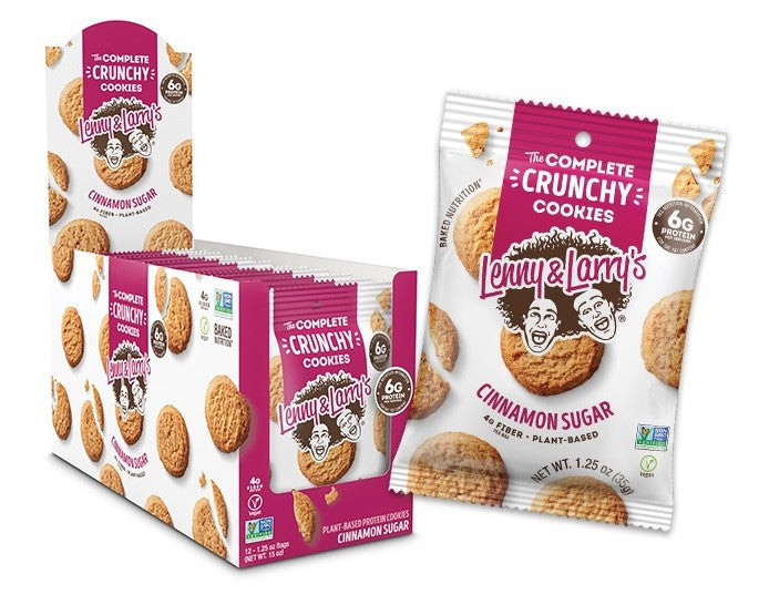 Shop Lenny & Larry's The Complete Crunchy Cookies, Cinnamon Sugar, 12 Count online  sports-nutrition-cookies-and-brownies